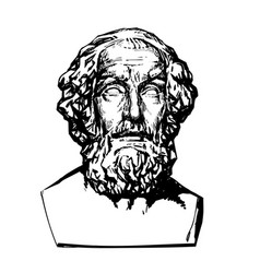 Ancient greek poet homer vector