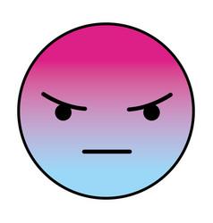 angry round emoji vector image
