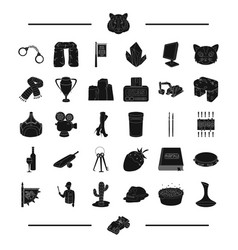 animal desert service and other web icon in vector image