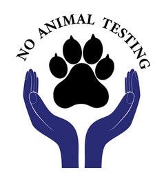 Animal pet protection sign hand in people vector