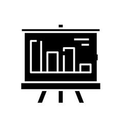 bar diagram presentation black icon concept vector image
