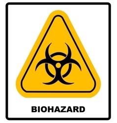 Biohazard symbol sign biological threat alert vector