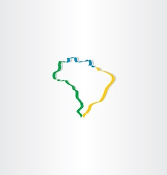 brazil stylized map icon vector image