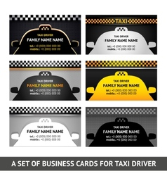 Business card taxi - fifth set vector