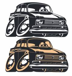 Cartoon Muscle Car vector image