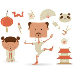 Chinese Set vector
