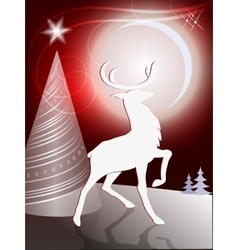 Christmas design with reindeer vector