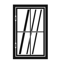 Closed window icon simple vector