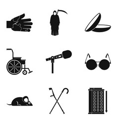 Deadly sick icons set simple style vector