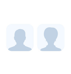 Default avatars photo placeholders vector
