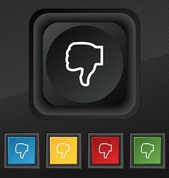 Dislike icon symbol Set of five colorful stylish vector image