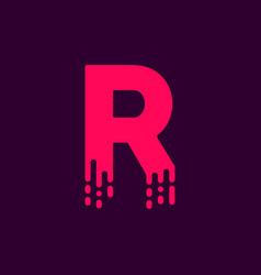 dripping logo letter r vector image