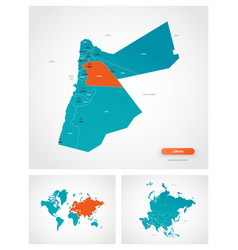 Editable template map jordan vector