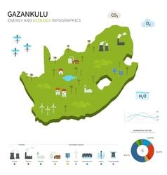 Energy industry and ecology of Gazankulu vector