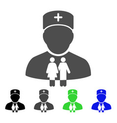family doctor icon vector image