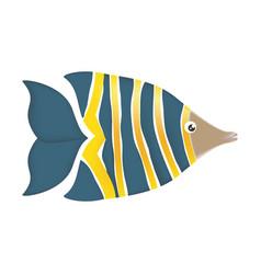 fish sea colored symbol vector image