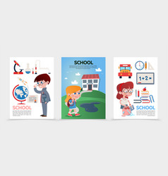 flat education posters vector image