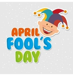 fools day design vector image