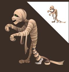 Funny cartoon character - mummy vector