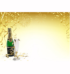 gold happy new year background vector image