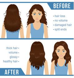 Hair care treatment vector