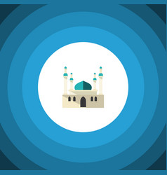 isolated mohammedanism flat icon architecture vector image