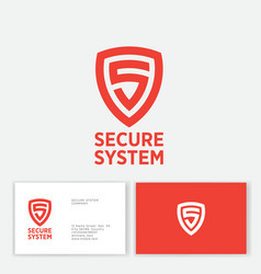 Logo secure system antivirus protection business vector