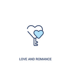 Love and romance concept 2 colored icon simple vector