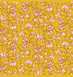 magnolia flowers seamless pattern vector image