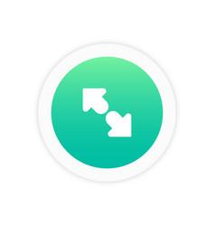 maximize icon vector image
