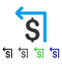 Moneyback flat icon vector