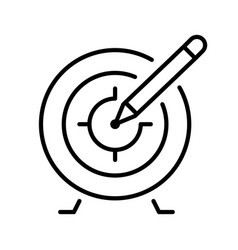 monochrome target with accuracy arrow icon vector image
