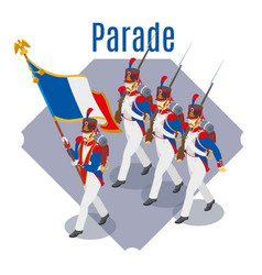 Napoleons grenadiers parade vector