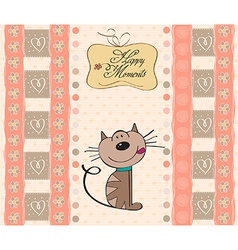 new baby shower card with cat vector image