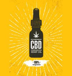 organic cbd oil hemp health care design vector image