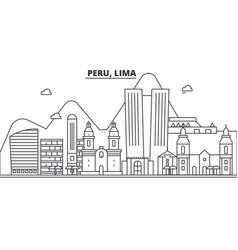 Peru lima architecture line skyline vector