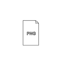 Png image file extension icon vector