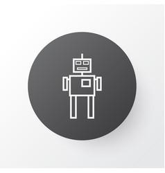 Robot icon symbol premium quality isolated cyborg vector