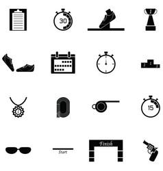 Running icon set vector