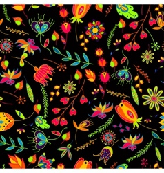 seamless pattern flowersfloral pattern vector image