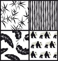 set japanese patterns vector image