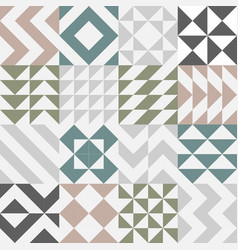 set of seamless pattern design vector image