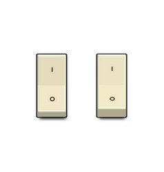 set realistic toggle switches in on and off vector image