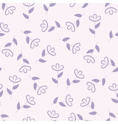 Simple floral seamless pattern flower background vector image