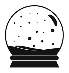 snow glass ball icon simple style vector image