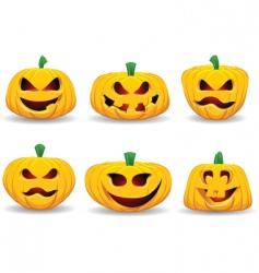 Spooky pumpkins vector