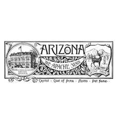 State banner arizona apache state vector