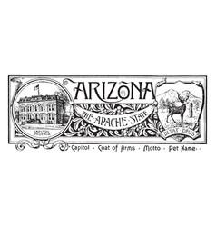 State banner of arizona the apache vector