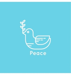 Symbol peace dove vector