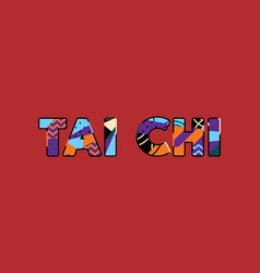Tai chi concept word art vector